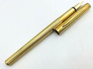 Y5589  MONTBLANC Noblesse Fountain Pen Stripe 14K Gold 585