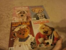 4  VINTAGE Teddy Bear Review Magazine 1989 FULL YEAR 54 PAGES EACH EXCELLENT