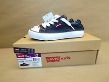 Levis Blue Denim Sneakers Girls Size 12 New w/ Tags in Box