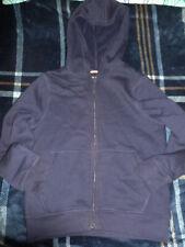 Varsity Jacket sz 10-12 French Toast Plaid Black Gray Fleece Boys