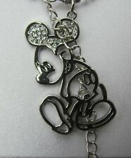 Disney Mickey mouse Silhouette pendant Genuine item. Disney etched + Disney box