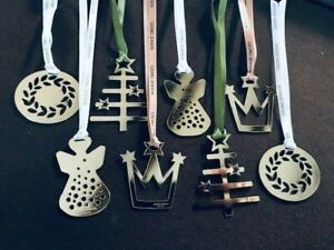 GEORG JENSEN MIXED SET (8) Christmas Decorations SILVER Limited Edition NEW Idea