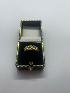 Antique 18ct Gold Keeper Ring 1902