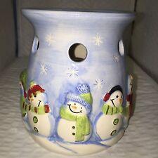 Seasonal Happy Snowmen Simmer Pot, (Candle Heated) #16523