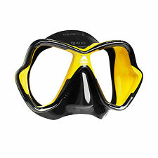 Mares X-Vision Ultra Liquidskin Scuba Diving Snorkeling Mask Yellow/Black
