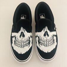 ☠️☠️☠️ Vans Jawbones Suede Leather Classic Slip-on Black Men's 9 NWOT RARE MCQ