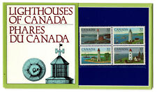Canada Sc #1035a Lighthouse Block of 4 in Official Government Booklet - 1984