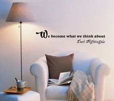 Wall Decal Wise Phrase Motivation Office Sign Lettering Vinyl Sticker (ed960)
