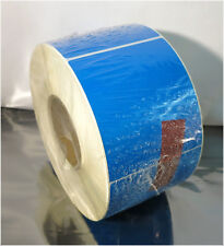 NEW 600 Perf, 3 Inch Core 4 X 6 Thermal Transfer Self-Adhesive Blue Labels