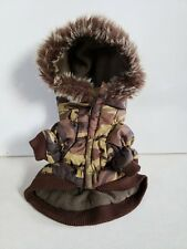 Pet Life Camouflage Parka Removable Hood Puffer Jacket Puppy Dog Thinsulate