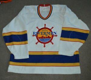 Vtg Peoria Rivermen IHL AUTHENTIC Bauer Hockey Jersey Sz 54