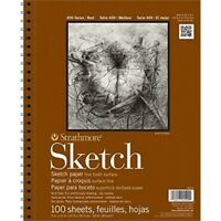 """Strathmore Sketch Spiral Paper Pad 11""""x14""""-100 Sheets"""
