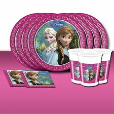 Disney FROZEN Girls Birthday Party Supplies Tableware and Decorations Anna Elsa