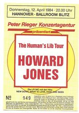 Howard Jones    In Concert 1984   org. Ticket / Konzertkarte / Eintrittskarte