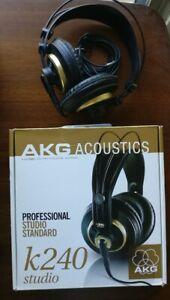 Vintage AKG K240 Headphones 55 Ohms Made in AUSTRIA K 240 Studio Monitor
