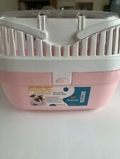 Pink/White Medium Pet Carrier For Small Animals