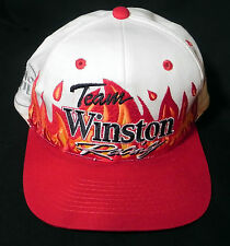 Team Winston Racing Cap Hat No Bull Flames Snapback Race Day Nascar    PT1