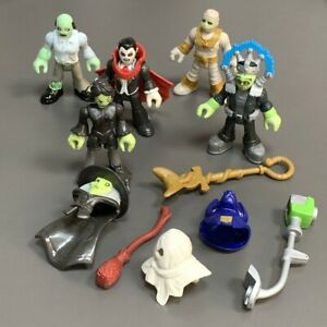 5X Imaginext Mummy Zombie Witch Frankenstein Monsters Dracula Vampire Figure Toy