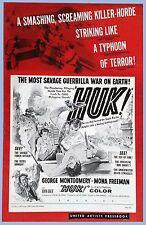 VINTAGE - HUK - ORIGINAL UNITED ARTISTS PRESSBOOK - 1956 - GEORGE MONTGOMERY