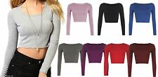Women's Viscose Long Sleeve Sleeve Crew Neck Classic Tops & Shirts