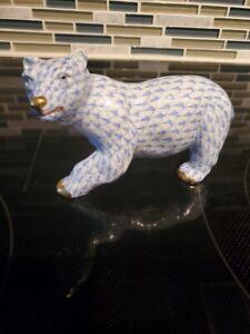 Herend Polor Bear Fishnet Mint