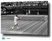 ROGER FEDERER CANVAS PRINT POSTER PHOTO 2008 WALL ART WIMBLEDON TENNIS vs NADAL