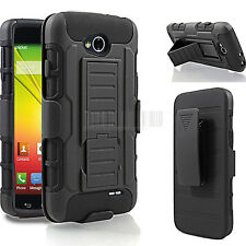 Armor Hybrid Holster Shockproof Rugged Case Cover For LG Ultimate 2 L41C+Film