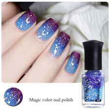 6ml Thermal Color Changing Peel Off Nail Art Polish Varnish Purple to Blue