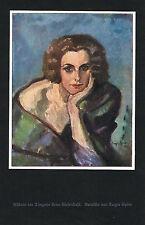 FAKSIMILE 1926, Tänzerin Helene Riefenstahl, Eugen Spiro, Kunstdruck