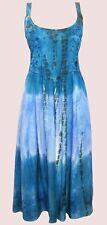 Eaonplus NEW BLUE-TEAL Renaissance Embroidered Princess Dress Size UK 14/16