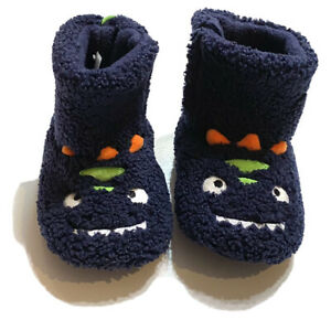 cat & Jack toddler baby boys monster slippers Navy blue size 5/6