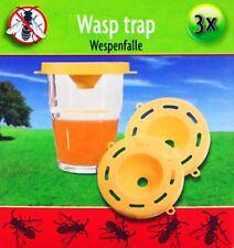 3x WESPENFALLE giftfrei Insektenfalle Fliegenfalle Insektenvernichter Wespen 80