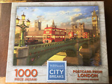"Whsmith 1000 Piece Jigsaw Puzzle City Breaks ""Postcard From London�"