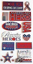 Recollections 3-D Pegatinas Army Navy Fuerza Aérea servicios armados USA American Hero