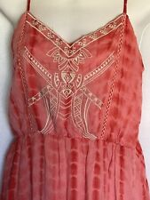 Flying Tomato LARGE Maxi Dress Spaghetti Straps Embroidery Tie Dye