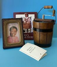American Girl Doll Addy's Birthday Story Miniature Ice Cream Maker &  Picture