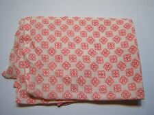 Vintage Red & White Print Remnant Sewing Arts & Crafts Fabric