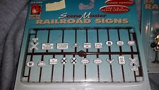 S/O Scale Scene Master  RAILROAD SIGNS item No. 1704 Nip