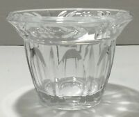 Vintage Clear Floral Small Pressed Glass Fruit Cup/Dish/Bowl w/ Convex panels