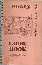 *COUNTRY CLUB HILLS IL VINTAGE *PLAIN & FANCY COOK BOOK *JR WOMAN'S CLUB *ETHNIC