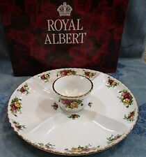 Royal Albert Old Country Roses Chip & Dip Set Snack Server Platter Tray Bowl NEW