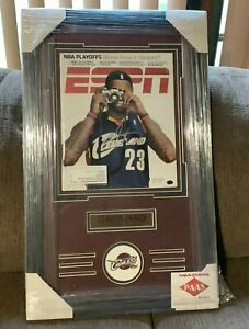 LEBRON JAMES Signed ESPN Magazine Cleveland Cavaliers w/ COA Framed Autographed