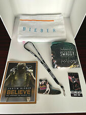 New JUSTIN BIEBER BELIEVE tour VIP PACKAGE Gift Set w/ Tote Towel Book Lanyard