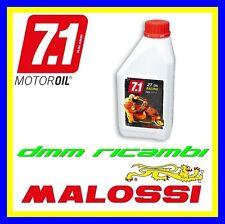 6 Litri Olio miscelatore New MALOSSI 7.1 Racing Full Synt 2T 100% Sintetico Blu