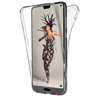 """Coque Etui Housse 360° Clear FULL TPU Gel Silicone Stylet pour Huawei P20 5.8"""""""
