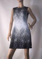 JAYSON BRUNSDON SIZE 12 BLACK LABEL ABSTRACT PRINT SHIFT DRESS