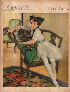 1915 Jugend September 13 Original German Art - Schwink, Finetti, Vollbehr, Gart