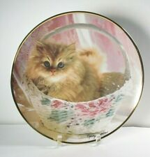 Franklin Mint Nancy Matthews Bundle of Joy Cat Collector's Plate, Box & Coa