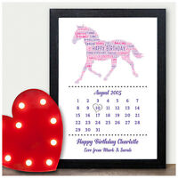 Personalised Birthday Gifts for Girls Her 13th 16th 18th Horse Equestrian Gifts