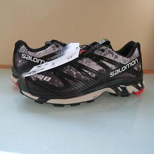 NEW Salomon Men's S/LAB XT-4 ADV Sneakers Black White High Risk Red Men's 9 US